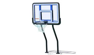 SR Smith Salt Pool Friendly Basketball Game without Anchors | Vinyl Coated Dual-Post | S-BASK-441