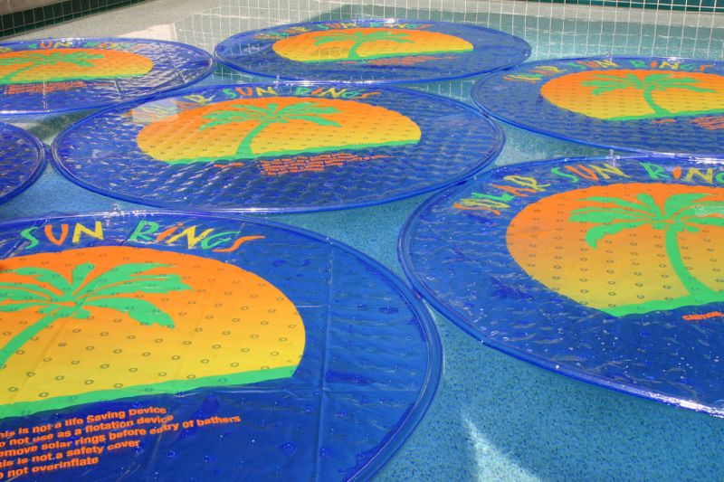 Solar Sun Rings Solar Blanket Palm Tree Pattern Ssra 100