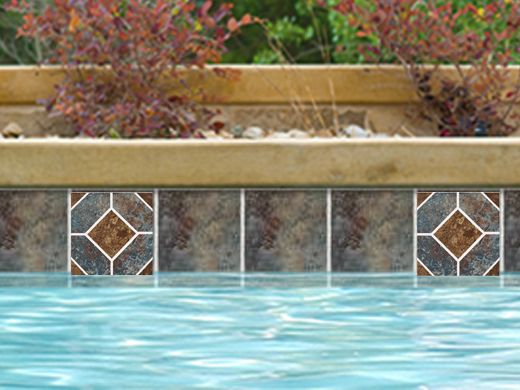 National Pool Tile Aztec Series 6x6 Deco Cobalt Az6 Typically Ships Same Business Day When Ordered By 2pm Est