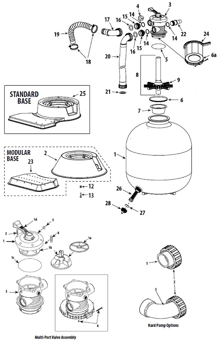 Modular Pump Base Waterway Clearwater//Carefree