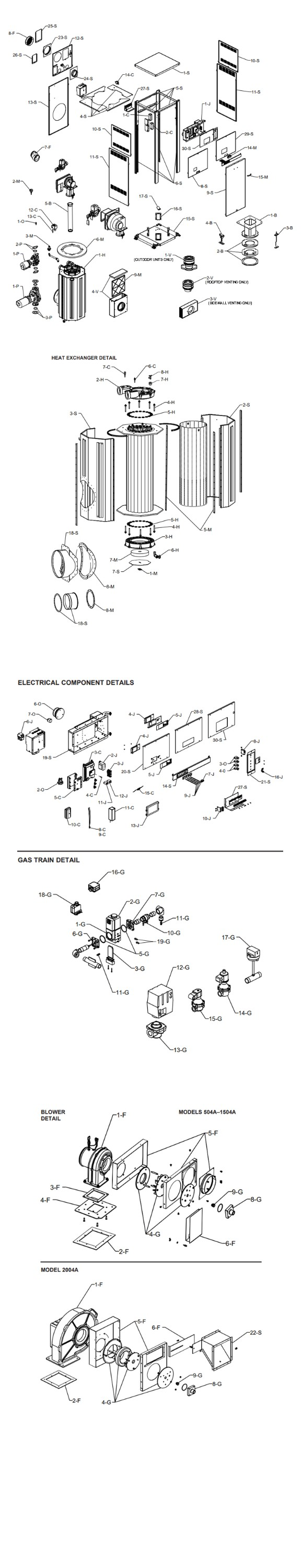 Raypak MVB P-2004A Cold Run Commercial Vertical Swimming Pool Heater with Versa Control and Cold Run | Natural Gas 1,999,000 BTUH | Cupro Nickel Heat Exchanger | 014385 Parts Schematic