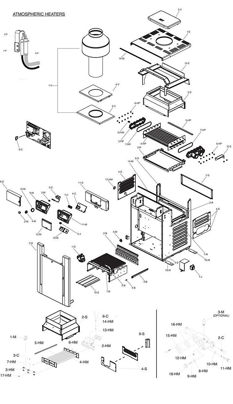 Raypak Digital ASME Propane Gas Commercial Swimming Pool Heater | 333k BTU Cupro Nickel Heat Exchanger | Altitude 2000-2999 Ft | C-R336A-EP-X 010216 | B-R336A-EP-X #58 017417 Parts Schematic