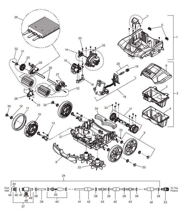 polaris engine diagram pool supply unlimited polaris quattro sport in ground pressure  polaris quattro sport