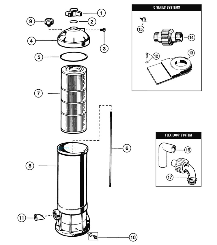 """Hayward Star Clear Above Ground Pool Filter Cartridge with 1.5"""" Female Thread 