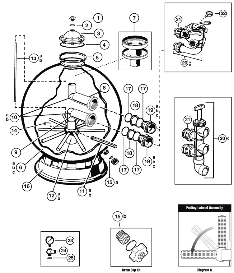 Hayward Backwash Valve Diagram Schematic on