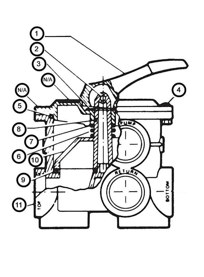 "Hayward Vari-Flo XL Multi-Port Control Valve Pipe Size: 2"" FIP   SP0715XR50 Parts Schematic"