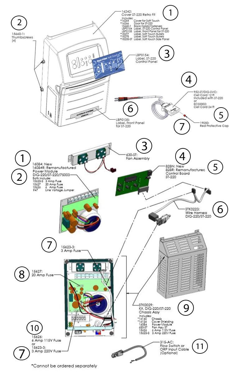 AutoPilot Pool Pilot Soft Touch Power Supply 220V | ST-220 Parts Schematic