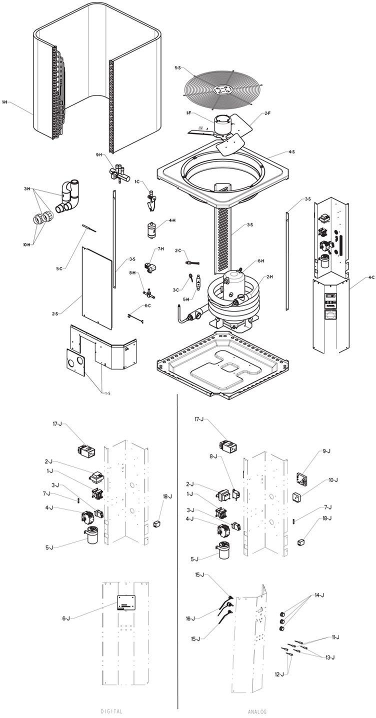 raypak rheem heat pump k btu titanium heat exchanger raypak rheem heat pump 133k btu titanium heat exchanger digital controls 013331 r8350ti e m8350ti e parts