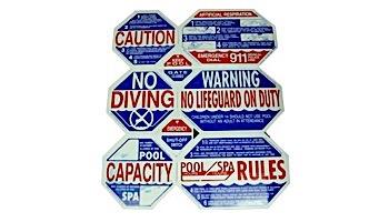 Traffic Graphix 8 Way California Pool Safety Sign   TGPS1001