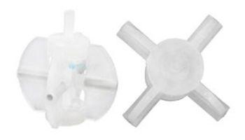 Blue-White Kit Paddle & Axle PVDF | 70000-783