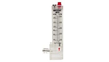 "Blue White 2"" Vertical PVC 40-150GPM Downflow Flowmeter | D-30200P"