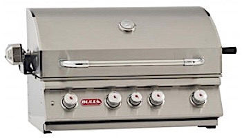 """Bull Barbecue Angus 30"""" 4-Burner Stainless Steel Built-In Natural Gas Grill with Lights 
