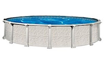 """St Tropez 24' Round 54"""" Wall Pool with Skimmer   Pool Only   PTRO-2454RRRSR4D"""
