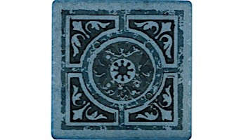 National Pool Tile Catania 6x6 Series | Ocean Blue Deco NW | CATBLUE DECONW