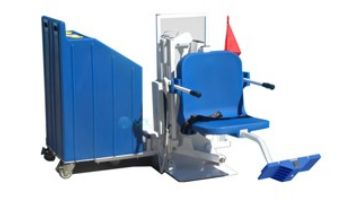 Aqua Creek Patriot Portable Pool Lift | Sand Ballast System | White with Blue Seat | F-12PPL-HD-AT1