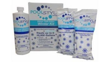 PoolStyle Deluxe Triple Action Winterizing Kit | 15,000 Gallons | 33845P