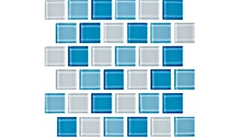 National Pool Tile Allure 1x1 Glass Tile   Peacock   201-019