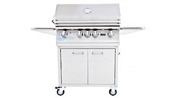 """Lion Premium Grills L-75000 32"""" 4-Burner Stainless Steel Built-in Propane Grill with Lights   75625"""