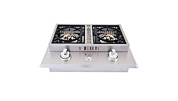 Lion Premium Grills Stainless Steel Double Side Burner Natural Gas | L1634