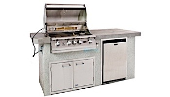 Lion Premium Grill Islands  Advanced Q with Stucco Natural Gas   90107NG