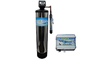 """Deep Blue Water Technologies MPulse 3000 Whole House Water Filtration System   9""""x48"""" Tank with WS1T Clack Valve   0954"""