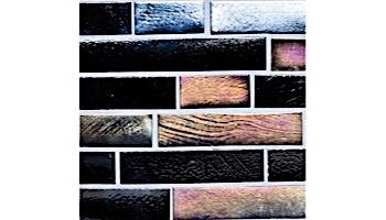 National Pool Tile Oceanscapes 12x12 Interlocking Glass Tile | Blackies | OCN-BLACKIES IS12