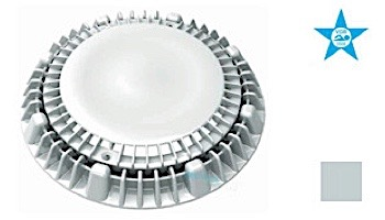 "AquaStar 8"" Round Super Low-Profile Anti-Vortex Cover/Mud Frame with Vented Riser Ring   White   LP8AVWR101"
