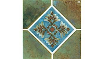Fujiwa Tile Joya Akron Series Pattern Tile   Verde   JOYA501