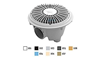 """AquaStar 8"""" Round For U Wade Anti-entrapment Suction Outlet Cover with Standard Sump Bucket (VGB Series) White 