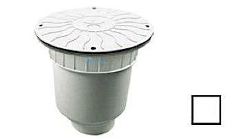 """AquaStar 10"""" Round Debris Catcher Suction Outlet Cover with Double Deep Sump Bucket with 4"""" Socket (VGB Series)   Dark Gray   10LT105D"""