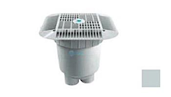 "AquaStar 14"" Square Grate with 2 Port Double Deep Sump Bucket (VGB Series) | White | 914101B"