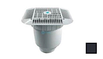 """AquaStar 14"""" Square Grate with Double Deep Sump Bucket with 4"""" Socket (VGB Series)   White   914101D"""