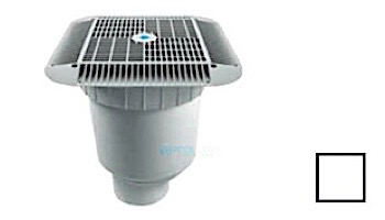 """AquaStar 16"""" Square Grate with Double Deep Sump Bucket   with 4"""" Socket (VGB Series)   Tan   1216108D"""