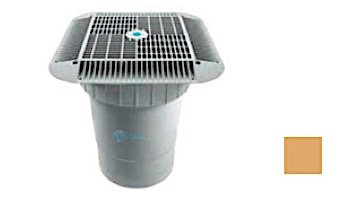 """AquaStar 16"""" Square Grate with Double Deep Sump Bucket 