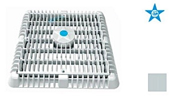 """AquaStar 9"""" Square Wave Suction Outlet Cover with Frame and Vented Riser Ring 