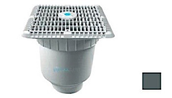 """AquaStar 9"""" Wave Grate  & Vented Riser Ring with Double Deep Sump Bucket with 4"""" Socke 