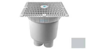 """AquaStar 12""""x12"""" Wave Suction Outlet  & Vented Riser Ring with 2 Port Double Deep Sump Bucket 