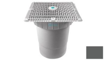 """AquaStar 12""""x12"""" Square Wave Grate  & Vented Riser Ring with Double Deep Sump Bucket with 6"""" Socket (VGB Series) 