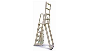 "Confer Plastics A-Frame Ladder with Barrier System for 48""-54"" Pools | Warm Grey | 7100X"
