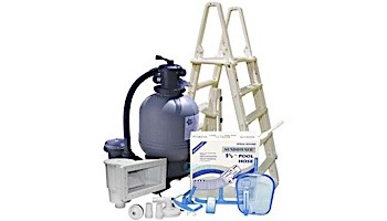 Standard Sand Filter Above Ground Pool Equipment Package | Pools up to 27' Round | AG-PB-0003