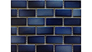 "Fujiwa Tile Glasstel Mosaic Series 7/8"" x 1-7/8"" | Indigo | Glasstel-11"