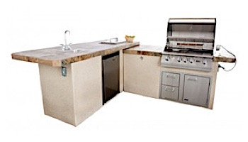 Lion Premium Grill Islands Commercial Q with Stucco Propane | 90116LP