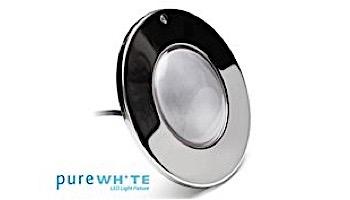 J&J Electronics PureWhite LED Pool Light XI Series | 12V Equivalent to 500W+ 30' Cord | LPL-F5W-12-30-P