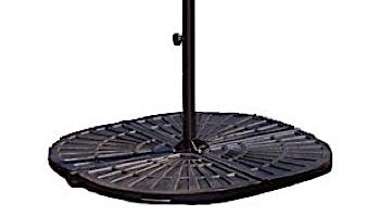 120 lb Resin Umbrella Base Weight | Bronze | NU6390
