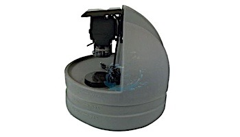 "Stenner Classic Series Peristalic Pump with 7.5 Gallon Acid Tank   Single Head Fixed Output   3GPD 230V 50Hz Europe .375"" UV Black 25PSI   S7G45MFL1C4S2S"