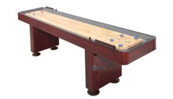 Hathaway Challenger 14-Foot Shuffleboard Table   Dark Cherry Finish   NG1216 BG1216
