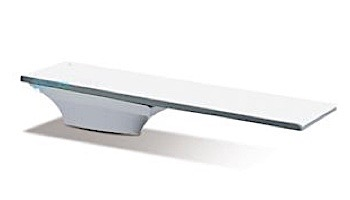 SR Smith Flyte-Deck II Stand and Fibre-Dive Board Complete   8' Radiant White with White Tread   68-209-7382