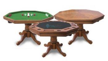 Hathaway Kingston Oak 3-In-1 Poker Table Only   Dark Oak Finish   NG2351T BG2351T
