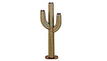 Desert Steel Saguaro Cactus with Garden Torch   5-Foot   150-052VT