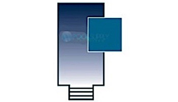 PoolTux 15-Year Royal Mesh Safety Cover | Rectangle 16' x 36' Blue | 4' x 8' Center End Step | CSPTBME16361